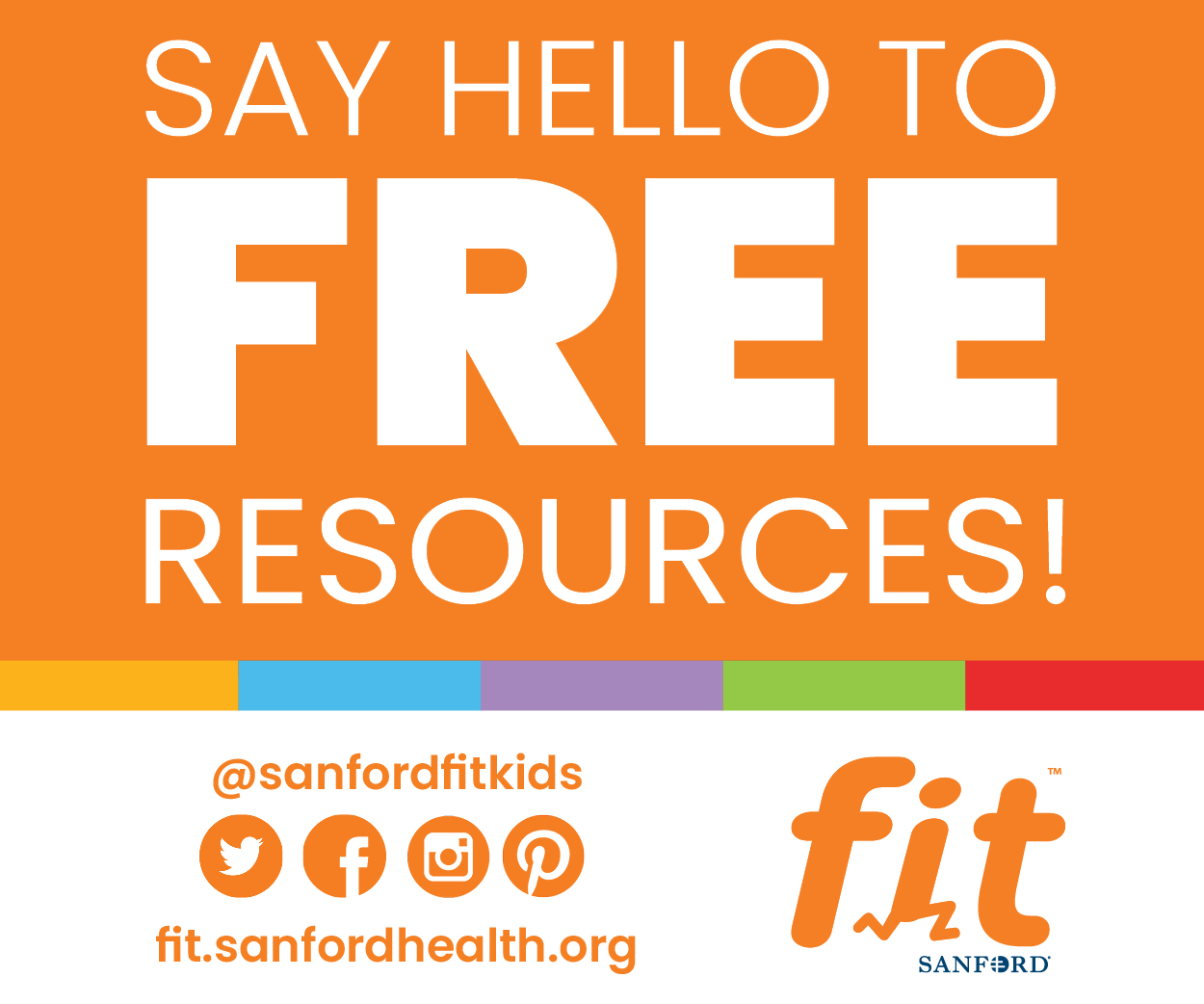 Sanford Health Free Resources Ad
